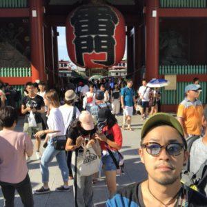 東京出張後半戦、浅草1人で自撮りツアー